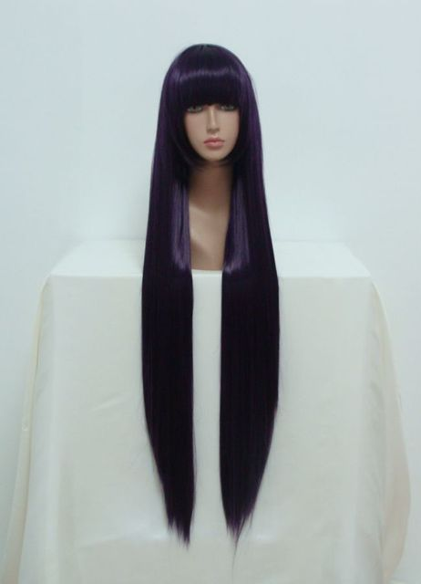 MCOSER Бесплатная Доставка Дешевые 100 см Длинные Ину х Boku SS-Ririchiyo Shirakiin Темно-Фиолетовый Аниме Косплей парик