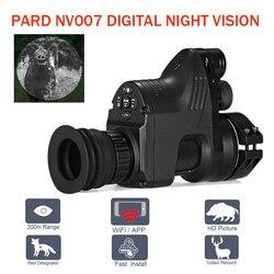 PARD NV007 цифровой охота ночное видение Сфера камеры 5 Вт DIY/IR/инфракрасный прицел ночного видения 200 м Диапазон ночного винтовка Оптический