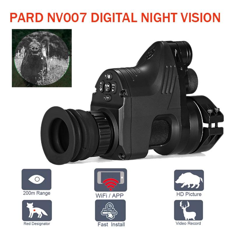 PARD NV007 Numérique Chasse vision nocturne Portée Caméras 5 w bricolage/IR/Infrarouge vision nocturne de Tir 200 M Gamme Nuit fusil Optique