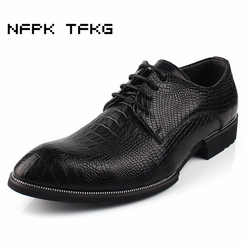 England style men's party nightclub dresses breathable cow leather shoes crocodile skin pattern oxford shoe spring summer zapato choudory summer dress crocodile skin shoes men breathable prom shoes full grain leather pointy mens formal shoes shoe lasts