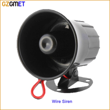 GZGMET  110dB Wired Siren office factory bank Horn Alarm Security Protection System accessories home  security alarm