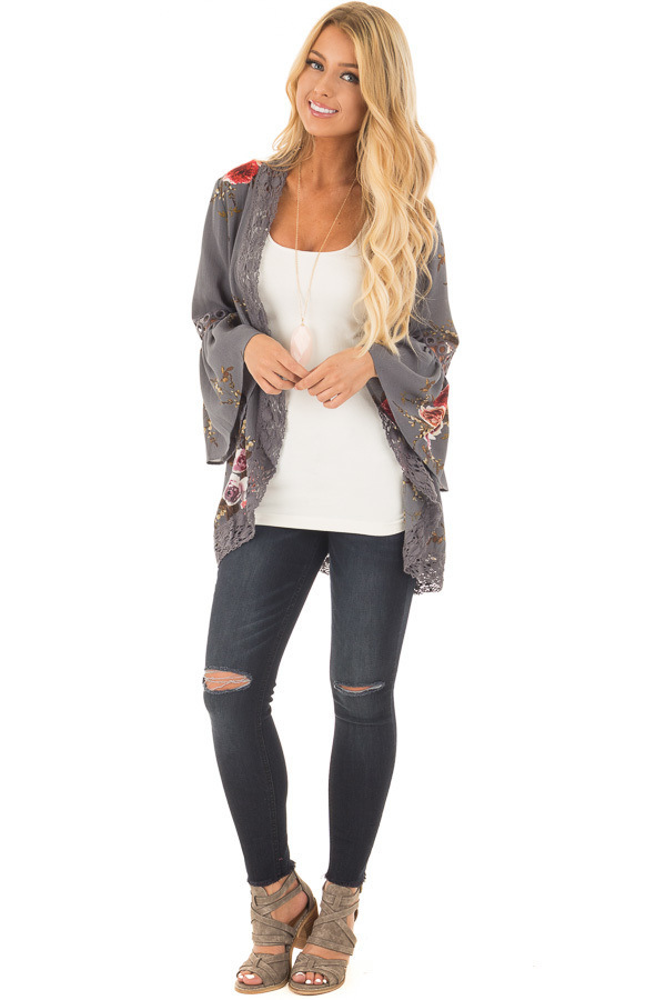 HTB1nTvakYZnBKNjSZFhq6A.oXXaK Women Plus Size Loose Casual Basic Jackets Female 2018 Autumn Long Flare Sleeve Floral Print Outwear Coat Open Stitch Clothing