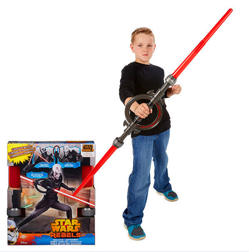 ФОТО Star Wars Lightsaber Cosplay Sword Star Wars Rebels Inquisitor Lightsaber PVC Action Figure Collectible Toy Retail Box WU237
