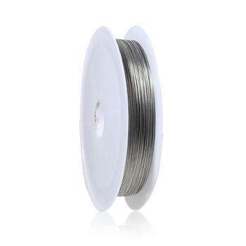 DoreenBeads 1 rollo alrededor de 50M color plata mate rebordear alambre 0,3 MM (B01403)