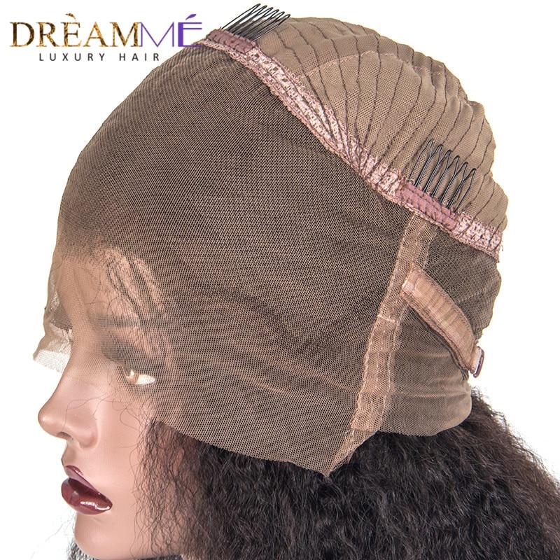 150% densité 360 dentelle perruque frontale perruque de cheveux - Cheveux humains (noir) - Photo 4