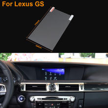 Car Styling 8 Inch GPS Navigation Screen Steel Protective Film For Lexus GS Control of LCD Screen Car Sticker