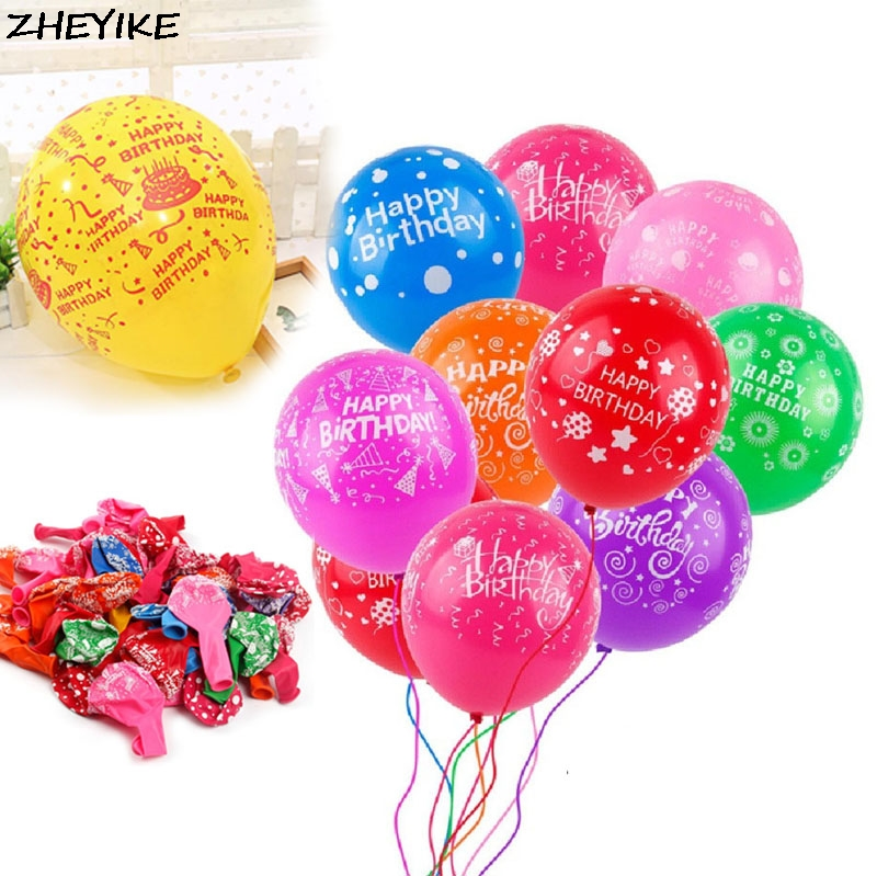 Humor Xxpwj The New Round Happy Birthday Balloons Holiday Party Decorations Childrens Toys Wholesale High Quality Balloon A-030 Ballons & Accessories