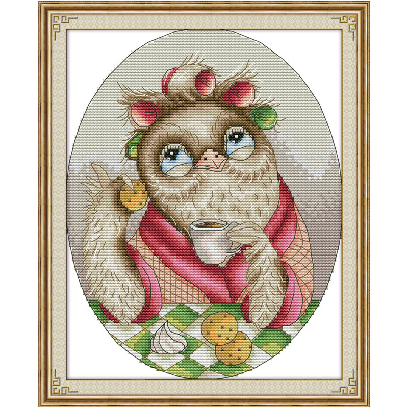 Chinese Cross Stitch Cartoon Character Animdiy Counted Cross Stitch Sets Kits For Needlework Embroidery Needles Home Decoration Attractive Designs; Cross-stitch