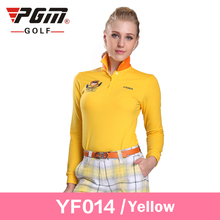 Brand Golf cotton womens golf shirts plus size golf clothes polo manche longue golf femme ladies polo long yellow t-shirt XXL