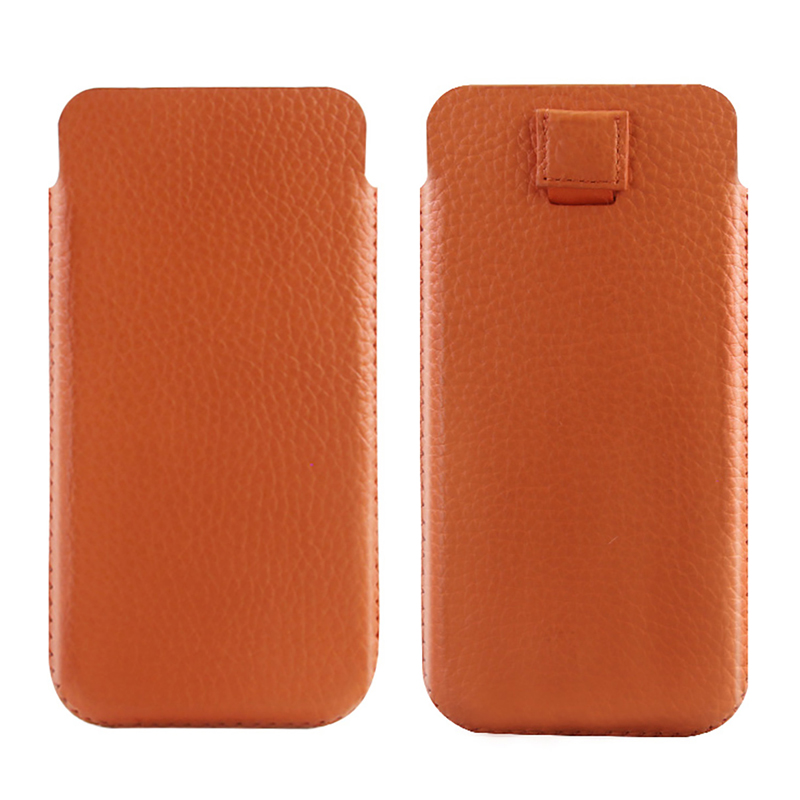 Universal Genuine Leather Mobile Phone Pouch Bag Case For Apple iPhone X Cover For Samsu ...