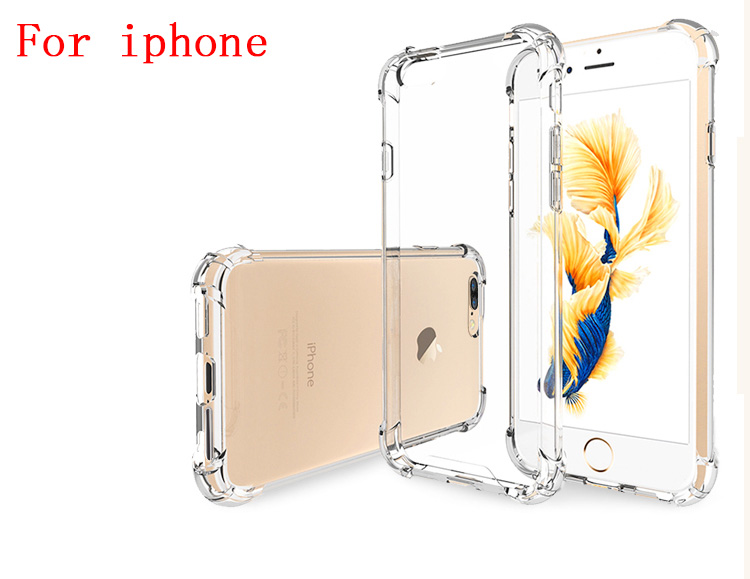 Silicone Clear TPU Case For iPhone 5s SE Cover For iPhone X XR XS MAX 7 8 6s 6 Plus Ultra Thin Crystal Back Protect Rubber Phone(China)