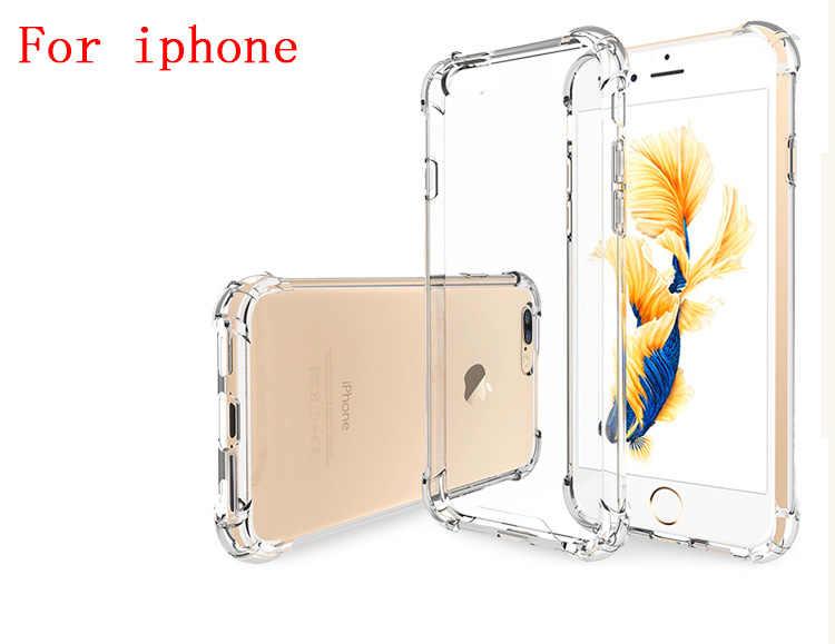 Ốp Trong Suốt TPU Cho iPhone 5 5S SE Cho Iphone X XR XS Max 7 8 6 S 6 Plus Siêu Mỏng Pha Lê Sau Bảo Vệ Cao Su Điện Thoại