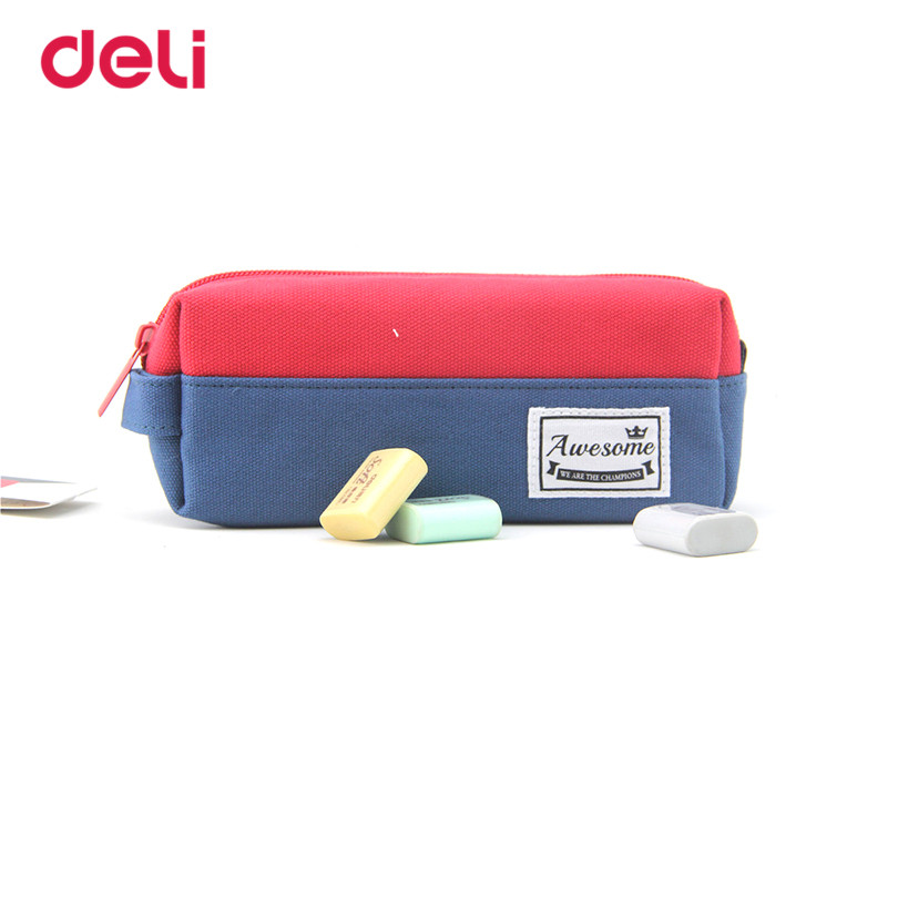 Deli pencil case Stationery Children Colorful 2017 Pencil bag for School&Office Supplies for girls boys student Pencil bag 1pc deli gradient candy color large capacity zipper pencil stationery case student pencil bag