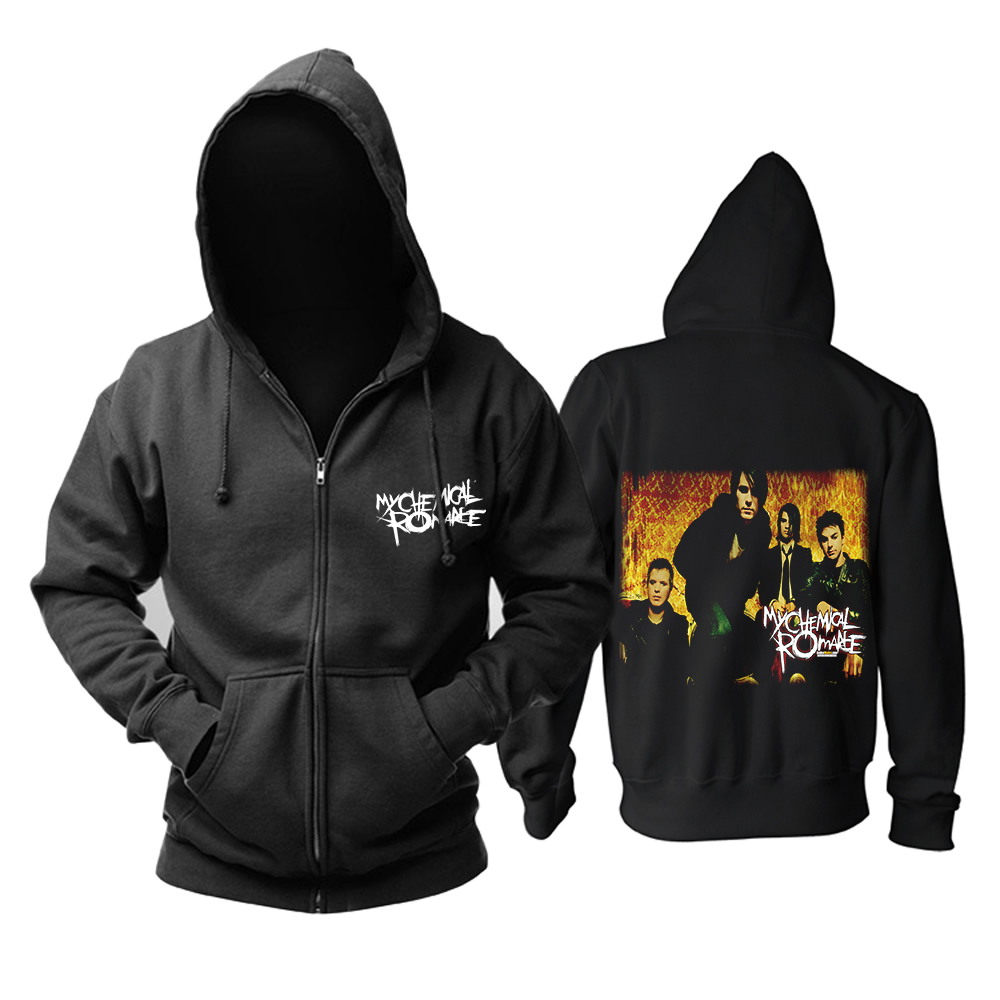 Bloodhoof Free Shipping MY CHEMICAL ROMANCE ROCK PUNK BLACK NEW HOODIE Asian Size