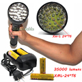 35000 lumens high power led lanterna xml-24 * t6 iluminação da lâmpada luzes de caça tático lanternas de led + bateria + carregador