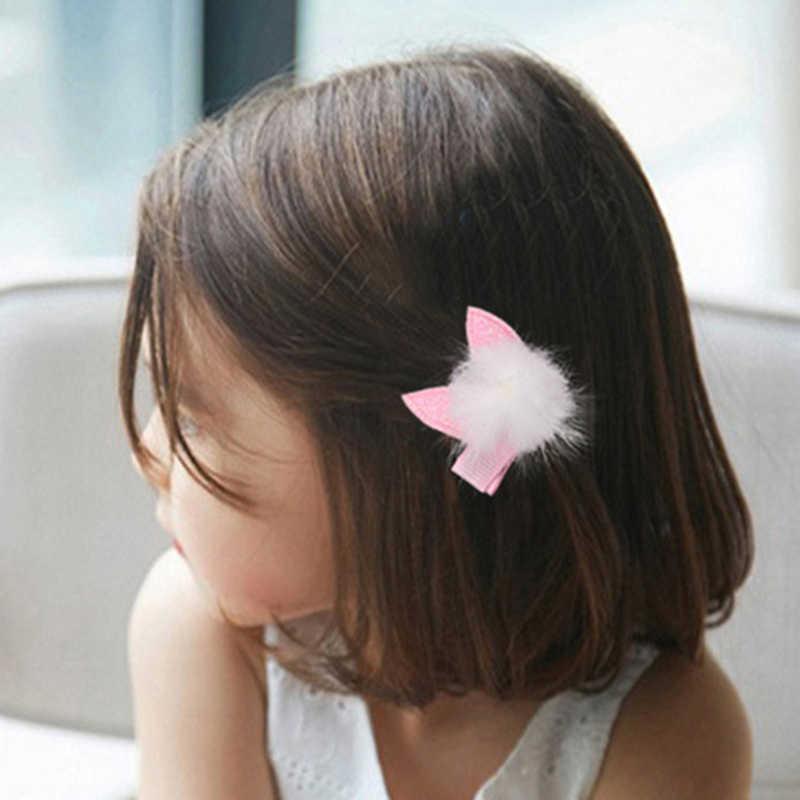 ZN فتاة بوتيك عقدة شعر للفتيات التعادل أرنب القط الأذن الشعر القوس التمساح كليب المشابك 1 قطعة دبوس الشعر