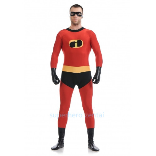 Mr Incredible Costume High elastic Supehero Catsuit Halloween Party Cosplay Catsuit Adult/Kids/Custom Made Free Shipping