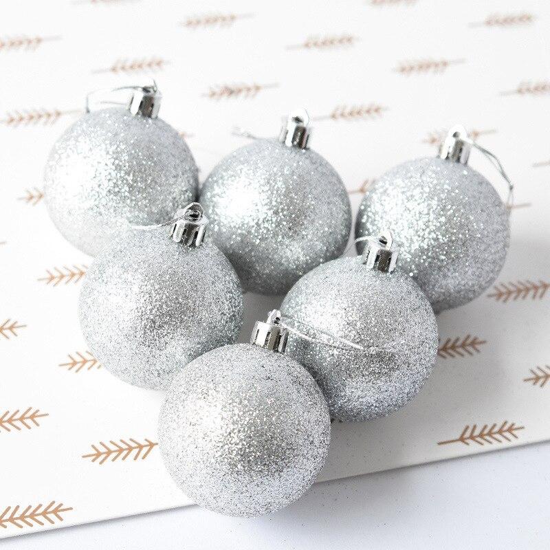 6 Christmas Ornaments Part - 28: 6 Pcs/Set Christmas Baubles Ornament Ball Party Home Garden Decor Christmas  Ornament Decoration 2D