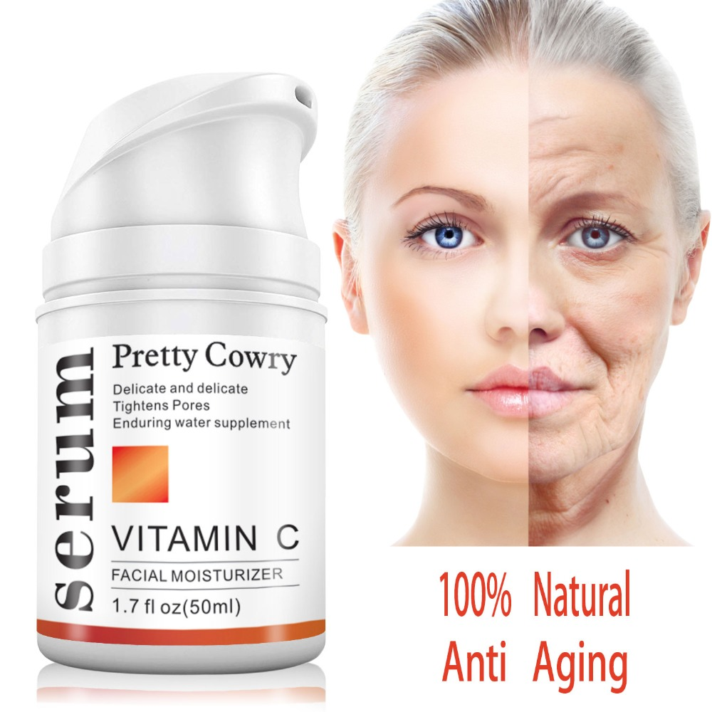 Natural Face Serum Anti Aging Hyaluronic Acid Anti Wrinkle Vitamin C20 Vitamin E Whitening Skin Care Removal Acne Facial Cream