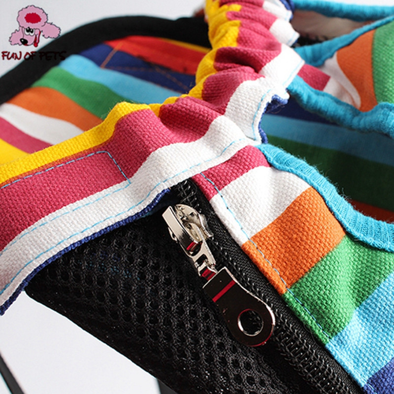 Rainbow Pet Travel Bag for Small Cats/Dogs Weight 0-10kg