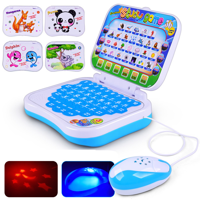 New Story learning machine toys Simulation Computer laptop Touch Multi-function Chinese and english computer toys