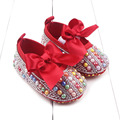 Spring New Diamond Baby Toddler Shoes Princess Shoes Flowers Printed Elastic Baby Shoes Female Baby Toddler Shoe  WMC605