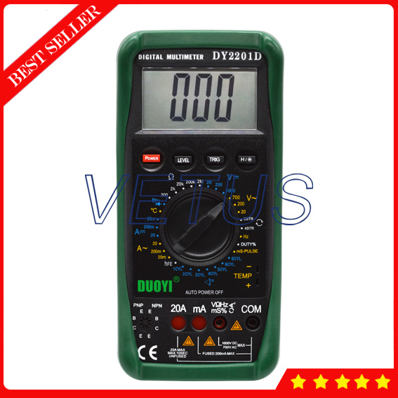 DY2201D Multifunctional Automotive Multimeter Specifications