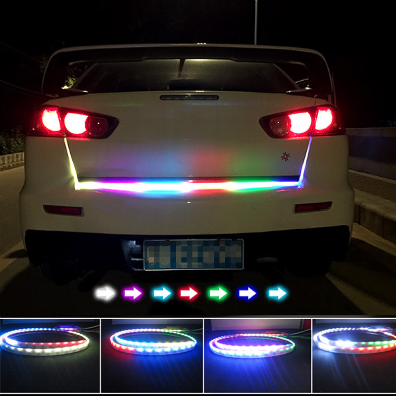 New auto car tailgate turning signal light bar rgb led strip trunk new auto car tailgate turning signal light bar rgb led strip trunk light strips multicolor braking lamp dxy88 in signal lamp from automobiles motorcycles aloadofball Gallery