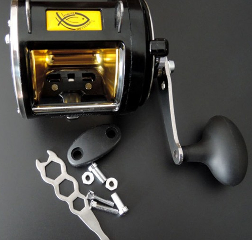 Saltwater Trolling Reel Sea Fishing Reel Offshore Heavy Duty Lever Drag Casting Reel 8BB 3.4:1
