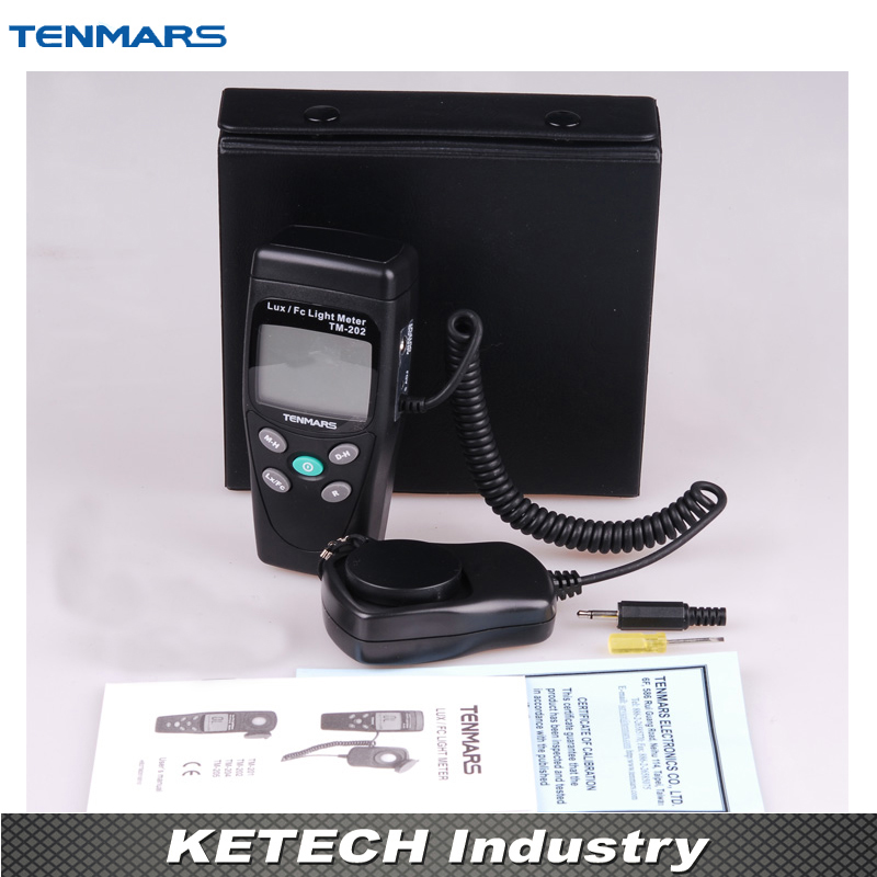 3 1/2 LCD Display Digital LUX Meter Illuminometer Light Meter with Maximum Reading 2000 TM-202 tenamrs yf 172 lcd display digital lux meter illuminometer light meter