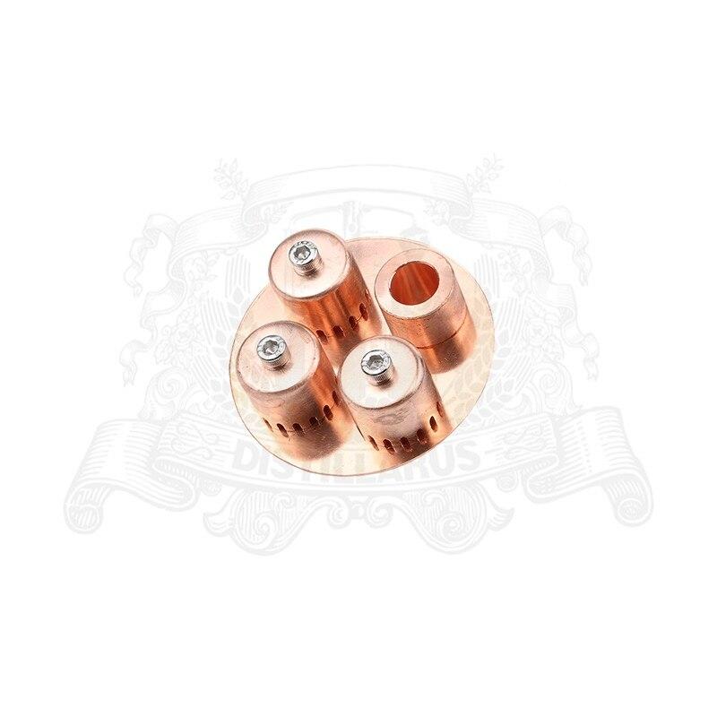 Copper bubble plate set for 3 column OD77mm. Premium qualityCopper bubble plate set for 3 column OD77mm. Premium quality