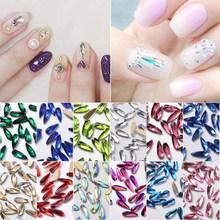 5/10pcs 3*7mm Nail Art Decorations Flat Back Non HotFix Drop Shape Crystal Jewelry 3D DIY Glass Stones Gems