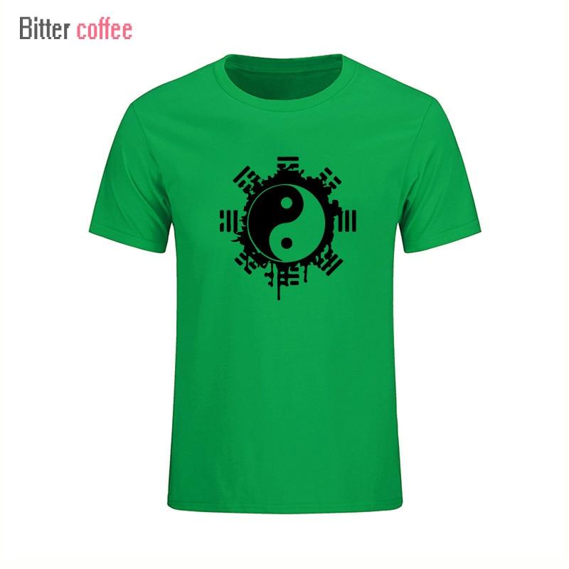 2017 divat nyári t-shirt férfi felső felső kínai Tai Chi tinta - Férfi ruházat - Fénykép 4