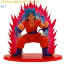 Free Shipping Dragon Ball Anime Super Saiyan Blue hair Goku Action Figures Kaiohken Model Collection Toy Retail Box SE3