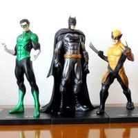 جديد حار 18 سنتيمتر ولفيرين سوبر هيرو العدل الأخضر فانوس باتمان عمل الشكل لعب دمية جمع هدية عيد
