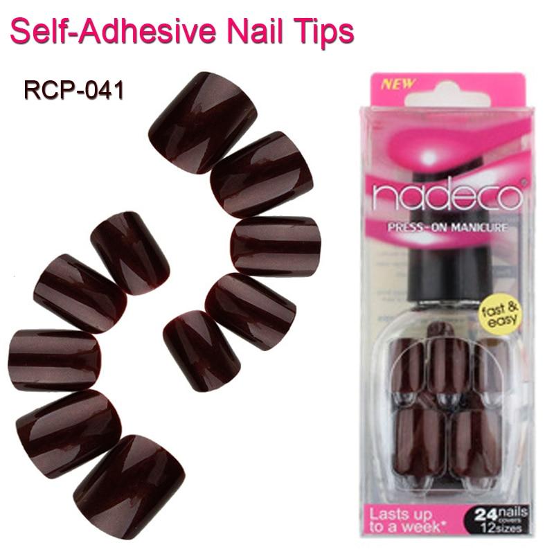 24pcs dark chocolate acrylic french
