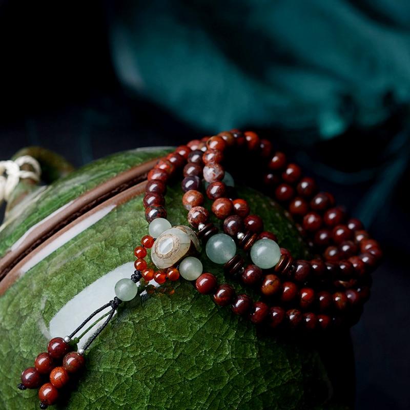 Beaded βραχιόλι vintage Dzi χάντρες κρεμαστό - Κοσμήματα μόδας - Φωτογραφία 2