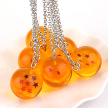 Movie Jewelry Necklace Plastic Pendant Anime Dragon Ball Z Orange pvc 1-7 stars Goku Dragonball Necklace llavero chaveiro A-1225
