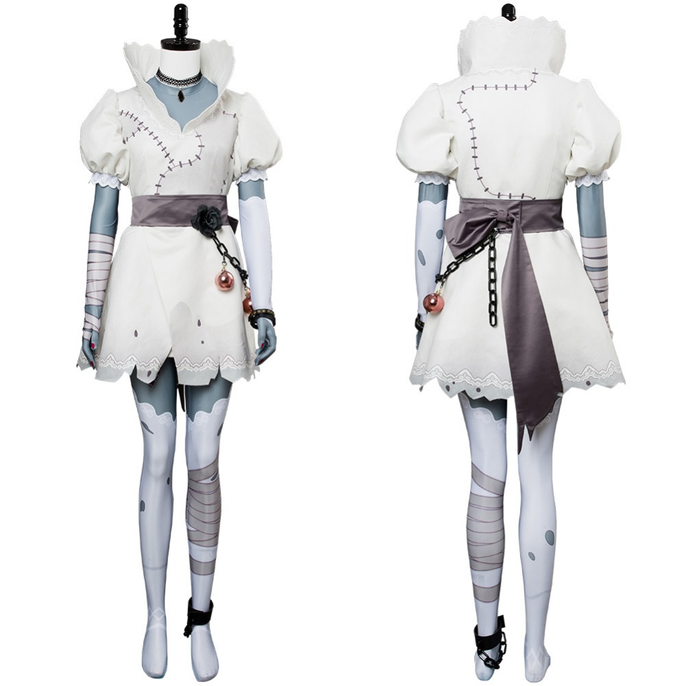 OW Cosplay Costume Sombra Olivia Colomar Bride Skin Cosplay Costume White Dress For Adult Women Halloween Costume