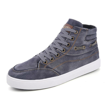 LISM 2018 Spring New Mens Casual Canvas Shoes Lace-Up Vulcanized Fashion Classic Breathable Non-slip Comfort