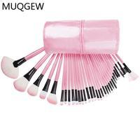 MAMIXIXI Pro 32Pcs Pouch Bag Case Superior Soft Cosmetic Makeup Brush Set Kit PINK 4 17