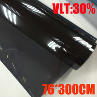 VLT 30%/ Roll 76cm*300cm/Lot Light Black Car Window Tint Film Glass 2 PLY Car Auto House Commercial Solar Protection Summer