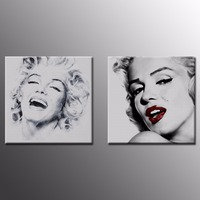 Vintage Poster Portrait Oil Painting Canvas Wall Art Picture Marilyn Monroe And Audrey Hepburn Canvas Prints
