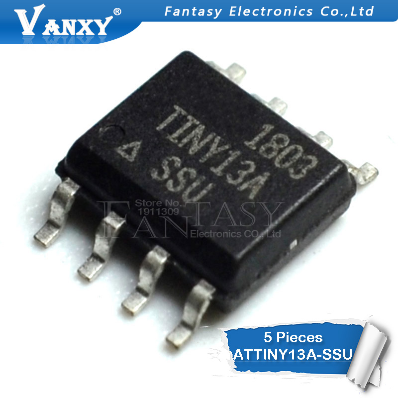 5PCS ATTINY13A-SSU SOP8 ATTINY13A SOP TINY13A SOP-8 13A-SSU SMD New And Original IC