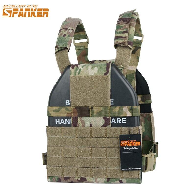 EXCELLENT ELITE SPANKER Outdoor Military Lightweight Molle Vests Camouflage Tactical Nylon Vests Jungle Hunting CS Combat