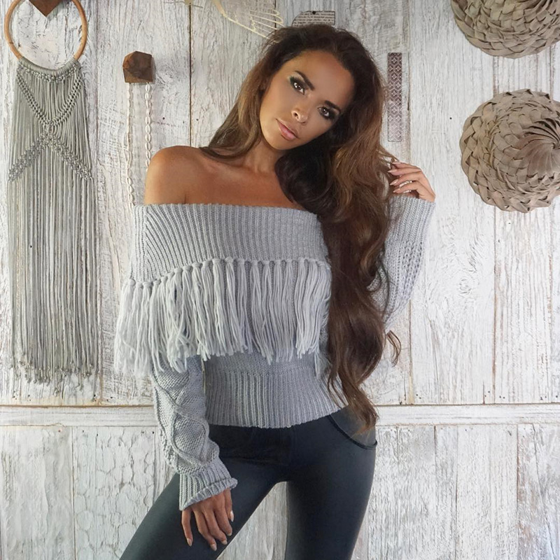 Off The Shoulder Sweater Women (12)