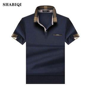 SHABIQ 2019 Brand Fashion Classic Men Polo Shirt Summer Short Sleeve Polos Shirt Mens Solid Shirt Cotton Shirt Plus Size S-10XL!(China)
