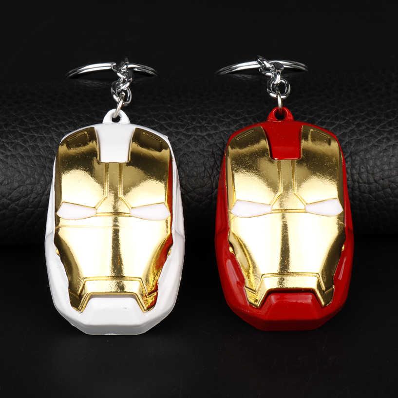 Dongsheng atacado Superman Os Vingadores Super Herói Homem De Ferro Máscara Keychain chaveiro Fãs de Presente de Natal Dos Homens-50
