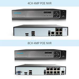 Image 4 - 4CH 8CH 4MP CCTV NVR フル Hd 1080P 2MP 屋外 IP カメラキット POE CCTV システム防水 P2P onvif セキュリティ監視セット