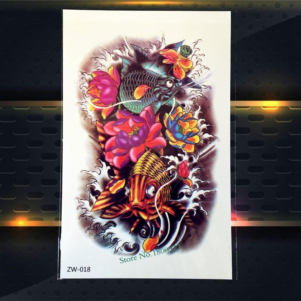 ᓂ1 Unid Colorido Cuerpo Pierna Arte Calcomanía Impermeable Tatuaje
